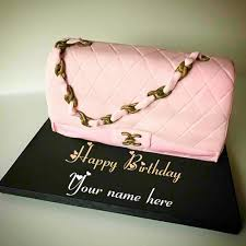 Ladies Purse Birthday Cake With Name Edit For Wife
