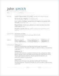 Impressive Resume Templates Inspiration Easy Resume Template Cteamco