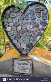 las vegas nv usa 1st oct 2018 one year later at remembrance wall at healing garden in las vegas nevada on october 1 2018