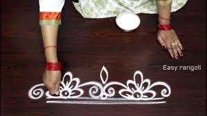 Said Design Muggulu Innovative And Easy Rangoli Side Designs Side Designs For