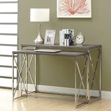 argent dark taupe nesting console table set