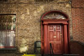 red front door on brick house. Amazing Red Front Door Brown House With Dublin Ireland An Old And Collapsing On A Brick