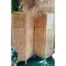h bamboo 4 panel screen