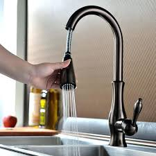 pull out spray kitchen faucet antique pullout spray rinse brass oil rubbed bronze kitchen faucet at