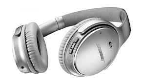 bose noise cancelling headphones 35. bose quietcomfort 35 wireless over-ear noise cancelling headphones - silver o