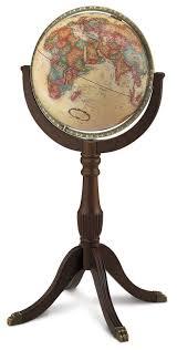 world globe on stand. Replogle Sherbrooke II Floor Globe - 16 Inch World On Stand A