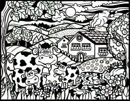 Disegno Da Colorare Con Pennarelli Inclusi Mucche Naif