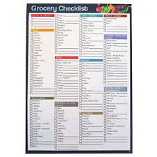 Grocery Checklist Details About A4 Grocery Shopping Checklist Organiser Notepad 75 Sheets 297 X 210mm