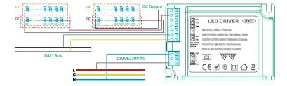 dimmable w dali led driver fobsun wiring schematic dimmable 45w dali led driver