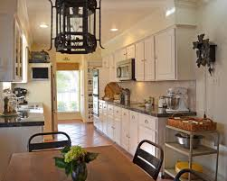 Dark Brown Color Wooden Island Decorate Kitchen Counter Space White