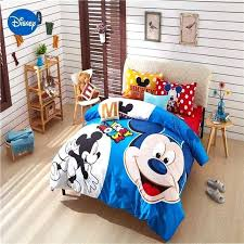blue mickey mouse comforter cover set queen twin king size single bed clothes sheets clubhouse