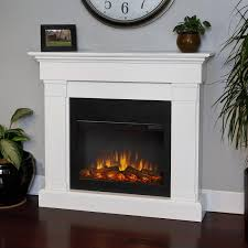 real flame crawford slimline 47 inch electric fireplace with mantel white 8020e w gas log guys