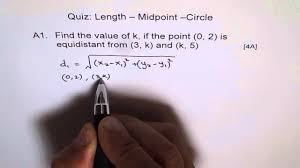find point equidistant from two points a1