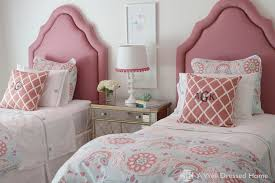 Cute Girls Twin Bed And Cool Kids Beds With Single Bed Lighting And Pink  Floral Bed