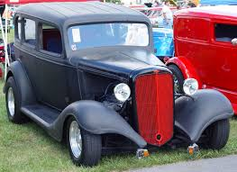 1933 Chevrolet Sedan - Red Grille - Front Angle