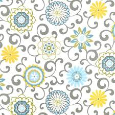 blue yellow window curtains fl medallion curtain panels grey scroll ds girls bedroom yellow flower shower
