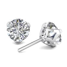Designer Diamond Stud Earrings 1 Carat Designer Diamond Stud Earrings