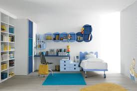 white children study room with yellow blue accent children study room design