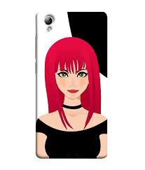 Vivo Y51l Back Cover Designer Sale Amazon Vivo Y51 Vivo Y51l Back Cover Emo Girl Red Hair Amazon