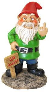 garden gnome. Exellent Gnome BigMouth Inc Go Away Garden Gnome Funny Lawn Gnome Statue Naughty  Decoration To G