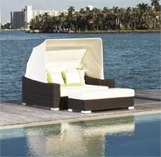 Vegas Outdoor Pool Day Bed with Canopy