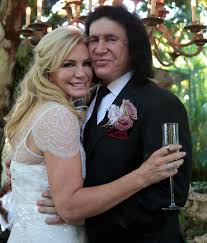 gene simmons wife wedding dress. gene simmons and shannon tweed | renew their wedding vows in wife dress n