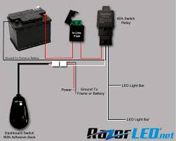 led bar wiring diagram how to wire light without relay throughout strip