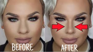 how to make a big nose look small nose contouring