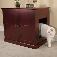 Decorative Cat Litter Box Covers Amazon Meow Town Concord Cat Litter Cabinet Mahogany 44