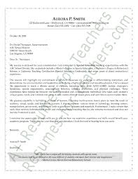 Special Education Cover Letter Sample Cover Letter Sample Letter
