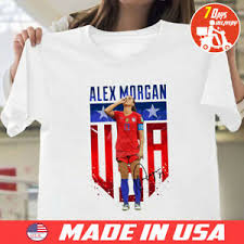 Details About Alex Morgan Soccer Team Usa T Shirt White Size S To 5xl