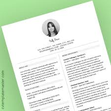 Short Cv Templates Cv Template Collection 191 Free Professional Cv Templates In Word