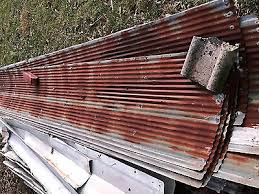 antique reclaimed rusty metal roof panels small corrugated 8