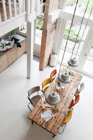 Vetrate piccola parete in mattoni grande tavolo da pranzo con