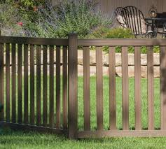 brown vinyl picket fence. 4\u0027 Woodland Select Picket Fence Brown Vinyl N