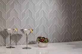 zig zag dove gray clear frosted by akdo glass tiles