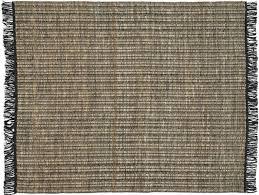 vin natural and grey jute rug