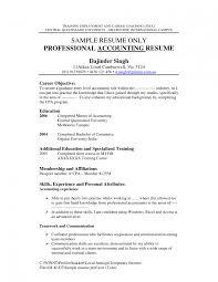 Sample Resume For Accounting Job Accounting Objectives Resume Examples Objective For Sample Ojt Cool 22