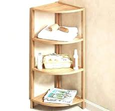wooden corner shelf bathroom decorating ideas shelves small corner shelves delightful bathroom decoration ideas using brown wooden corner shelf