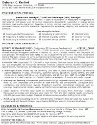 Restaurant Manager Job Resume For Study Pics Examples Resume