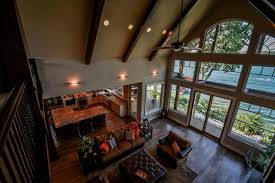 asheville lake house vaulted great room max fulbright
