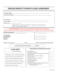 Lease Agreement Form Pdf Free Oregon Month To Month Rental Agreement Form PDF EForms 23