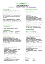 recruitment consultant cv trainee sales negotiator cv sample