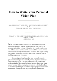 my vision statement sample writing your personal vision plan