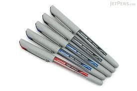ball needle. uni-ball vision needle rollerball pen - fine point 5 set uni ball