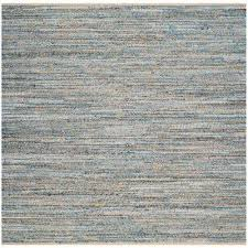 cape cod natural blue 8 ft x 8 ft square area rug