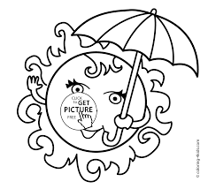 summer sun coloring pages with sun for kids, seasons coloring pages printable on seasons coloring pages for kindergarten