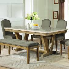 marble top dining room table. Homelegance Jemez 6 Piece Faux Marble Top Dining Room Set In Weathered Table T