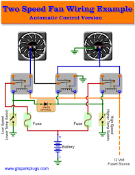 automotive electric fans gtsparkplugs Wiring Diagram Of Electric Fan automatictwo speed automotive fan control wiring diagram for electric fan 12 volt