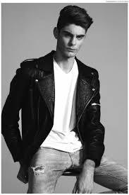 jorge wears vintage leather jacket t shirt h m and jeans zara